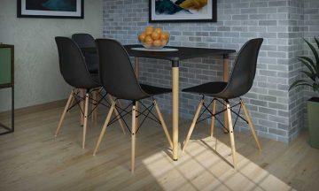 פינת אוכל מושלמת עם ארבעה כסאות דגם בראגה