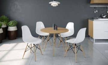 פינת אוכל מושלמת עם ארבעה כסאות דגם סורנטו