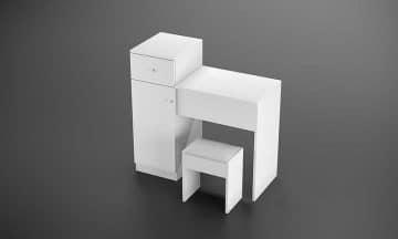 שידת איפור מודרנית כולל כיסא דגם אוסלו