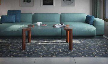 שולחן סלון זכוכית בשילוב רגלי מתכת דגם פארו