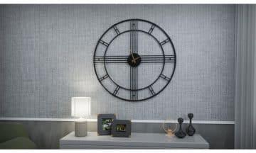 שעון קיר גדול מעוצב דגם פריז
