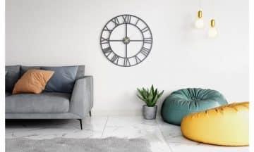 שעון קיר גדול מעוצב דגם מונקו בשני צבעים לבחירה